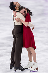 PYEONGCHANG-GUN, SOUTH KOREA - FEBRUARY 20: Anna Cappellini and Luca Lanotte of Italy celebrate in the Figure Skating Ice Dance Free Dance on day eleven of the PyeongChang 2018 Winter Olympic Games at Gangneung Ice Arena on February 20, 2018 in Gangneung, South Korea.  Photo by Ronald Hoogendoorn / Sportida