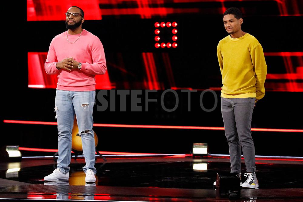 """THE VOICE -- """"Knockout Reality"""" Episode 2010 --  Pictured: (l-r) Victor Solomon, Gean Garcia -- (Photo by: Trae Patton/NBC)"""