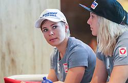 23.06.2017, Hotel Forsthofgut, Leogang, AUT, OeSV, Schwimmtraining Damen Speed Team, im Bild Nicole Schmidhofer (AUT), Cornelia Hütter (AUT) // during a swimmtraining of the Austrian Ladies Speed Team at the Hotel Forsthofgut, Leogang, Austria on 2017/06/23. EXPA Pictures © 2017, PhotoCredit: EXPA/ JFK