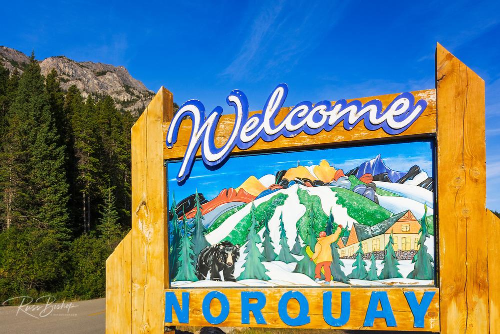 Mount Norquay sign, Banff National Park, Alberta, Canada