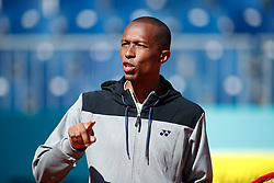 May 3, 2019 - Madrid, MADRID, SPAIN - Kamau Murray of USA during the Mutua Madrid Open 2019 (ATP Masters 1000 and WTA Premier) tenis tournament at Caja Magica in Madrid, Spain, on April 28, 2019. (Credit Image: © AFP7 via ZUMA Wire)