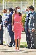 Queen Letizia of Spain attends the Commemoration of the 125th anniversary of Heraldo de Aragon Newspaper at Heraldo Rotary Press on September 16, 2020 in Villanueva de Gallego, Spain