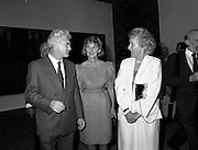 19/08/1988<br /> 08/19/1988<br /> 19 August 1988<br /> Opening of ROSC '88 at the Guinness Hop Store, Dublin. Patrick Murphy, ROSC Chairman, (left) chats with Maeve Hillery (right).