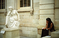 The Libyan Sibyl (1860) by William Wetmore Story (1819-1895) at the Metropolitan Museum of Art.
