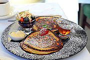 Pancakes from Castlewood House, The Wood, Dingle, Co. Kerry who won the Best Breakfast in Ireland award.<br /> Picture by Don MacMonagle -macmonagle.com
