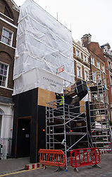 Covent Garden, London, March 30th 2015. Construction continues on the remodeling of 38 King Street in Covent Garden. The building used to house the Africa Centre.