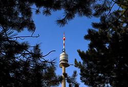 THEMENBILD, Wien, Österreich, Der Donauturm ist ein Aussichtsturm im Donaupark und mit 252 Metern das hoechste Gebaeude Österreichs. im Bild der Donauturm in einem Herz aus Aesten. //THEME IMAGE, FEATURE, The Danube Tower is a viewing tower in the Danube Park and with an altitude of 252 metres the highest building in Austria. picture shows the Danube Tower in a heart of branches. Vienna, Austria on 2012/09/10. EXPA Pictures © 2012, PhotoCredit: EXPA/ Sebastian Pucher