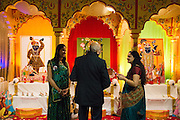 Hand crafted paintings depict the eight Darshans of Shreenathji during Diwali at the Shreemaya Krishnadham Temple in Milpitas, California, on November 10, 2013. (Stan Olszewski/SOSKIphoto)