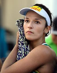 16-07-2014 NED: FIVB Grand Slam Beach Volleybal, Apeldoorn<br /> Poule fase groep G vrouwen - Barbara Seixas De Freitas BRA
