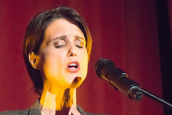 Old Town Hall, Stratford, London - 28 November 2015. Singers Marc Almond, Ronan Parke, Heather Peace and Asifa Lahore headline the Peter Tatchell Foundation's inaugural Equality Ball, a fundraiser for the foundation's LGBTI and human rights work, with guest of honour Sir Ian McKellen  joined by Michael Cashman. PICTURED:  Heather Peace. //// FOR LICENCING CONTACT: paul@pauldaveycreative.co.uk TEL:+44 (0) 7966 016 296 or +44 (0) 20 8969 6875. ©2015 Paul R Davey. All rights reserved.