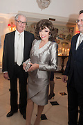 JOAN COLLINS, The Cartier Chelsea Flower show dinner. Hurlingham club, London. 20 May 2013.