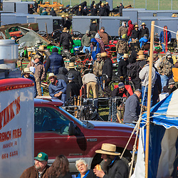 Gordonville, PA, USA - March 10, 2012: Thousands attend the annual public mud sale to benefit the Gordonville Volunteer Fire Company in Lancaster County, PA.