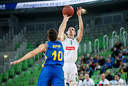 Jan Span of Petrol Olimpija during basketball match between KK Petrol Olimpija and KK Hopsi Polzela in Round #2 of Liga NovaKBM 2018/19, on October 21, 2018, in Arena Stozice, Ljubljana, Slovenia. Photo by Vid Ponikvar / Sportida