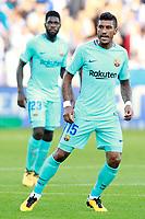 FC Barcelona's Paulinho (r) and Samuel Umtiti during La Liga match. August 26,2017. (ALTERPHOTOS/Acero)