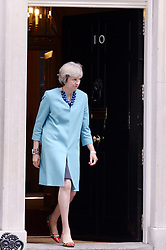 Starke Frauen: Theresa May empf‰ngt Aung in der Downing Street No 10<br /> <br /> / 130916<br /> <br /> *** Prime Minister May welcomes Burmese leader Aung at 10 Downing Street in London; September 13th, 2016 ***