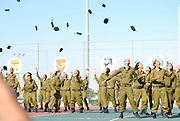 Female Israeli Soldiers at a marching out parade at the end of boot camp