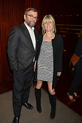 RACHEL JOHNSON and her husband IVO DAWNAY at a dinner hosted by Liberatum to honour Francis Ford Coppola held at the Bulgari Hotel & Residences, 171 Knightsbridge, London on 17th November 2014.