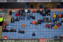 Fans in the stands during the Emirates FA Cup, third round match at Turf Moor, Burnley.