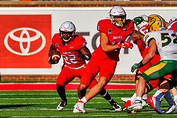 NORMAL, IL - October 16: Pha'leak Brown during a college football game between the NDSU (North Dakota State) Bison and the ISU (Illinois State University) Redbirds on October 16 2021 at Hancock Stadium in Normal, IL. (Photo by Alan Look)