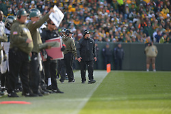 GREEN BAY, WI - NOVEMBER 10: Coach Jerry Azzinaro of the Philadelphia Eagles walks the sideline against the Green Bay Packers at Lambeau Field on November 10, 2013 in Green Bay, Wisconsin. (Photo by Drew Hallowell/Philadelphia Eagles/Getty Images) *** Local Caption *** Jerry Azzinaro