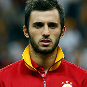 Galatasaray's Emre Colak during their Turkish Super League soccer match Galatasaray between Akhisar Belediyespor at the TT Arena at Seyrantepe in Istanbul Turkey on Sunday 23 September 2012. Photo by TURKPIX