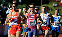 Friidrett<br /> 19. juni 2010<br /> Fana Stadion , Bergen , Norway<br /> European team championships<br /> 1500 m Men<br /> Diego Ruiz (L) , ESP<br /> Henrik Ingebrigtsen (3R) , NOR<br /> Mateusz Demczyszak , (2R) , POL<br /> Niclas Sandells (R) , FIN <br /> Foto : Astrid M. Nordhaug