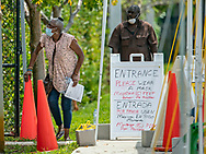 Walk up testing for the coronavirus at Urban League of Broward County during the COVID19 pandemic on Saturday, April 18, 2020.