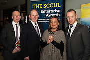 Liam Bluett. SCCUL  with Frank Ryan Chairman IDA  and Norah Casey  and Michael Smith Ballybane Enterprise Centre at the annual SCCUL Enterprise Awards prize giving ceremony and business expo which was hosted by NUI Galway in the Bailey Allen Hall, NUIG. Photo:Andrew Downes
