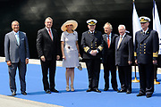 ms Nieuw Amsterdam Inaugural in Venice.<br /> <br /> Her Royal Highness Princess Máxima inaugurated on Sunday, July 4, 2010 in Venice, The cruise ship ms Nieuw Amsterdam of Holland America Line. The ship is the second in the Signature Class. The New Amsterdam, which can accommodate 2106 passengers, is built by Italiani shipbuilder Fincantieri Cantieri Navali , SpA in Marghera, Italy.<br /> <br /> On the photo:<br /> <br />  Princes Maxima with  Stein Kruse CEO of Holland America Line en captain Edward van Zaanen