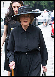 June 27, 2017 - London, London, United Kingdom - Image licensed to i-Images Picture Agency. 27/06/2017. London, United Kingdom. Countess Mountbatten's sister, Lady Pamela Hicks arriving  at the funeral of Countess Mountbatten of Burma at  St.Paul's church in Knightsbridge, London. Picture by Stephen Lock / i-Images (Credit Image: © Stephen Lock/i-Images via ZUMA Press)
