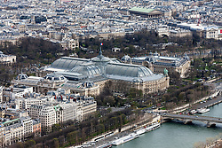 High angle view of city, Grand Palais, Paris, France