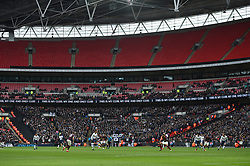 A general view of a half empty Wembley Stadium