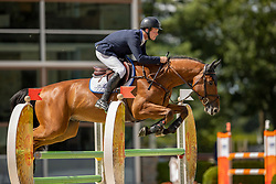 Van Den Oetelaar Tim, NED, Knick-Knock<br /> Nationaal Kampioenschap KWPN<br /> 5 jarigen springen final<br /> Stal Tops - Valkenswaard 2020<br /> © Hippo Foto - Dirk Caremans<br /> 19/08/2020