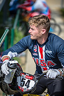 #54 (SEBESTA Tanner) USA during practice at Round 5 of the 2018 UCI BMX Superscross World Cup in Zolder, Belgium