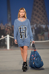 Hailey Baldwin walks the runway at the TommyLand Tommy Hilfiger Spring 2017 Fashion Show on February 8, 2017 in Venice, Los Angeles, CA, USA. Photo by Lionel Hahn/ABACAPRESS.COM