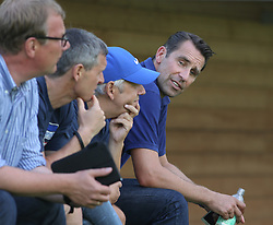 04.08.2014, Athletic Area, Schladming, AUT, Hertha BSC, im Bild Manager Michael Preetz, rechts, und Zuschauer // during a training session of the German Bundesliga Club Hertha BSC at the Athletic Area, Austria on 2014/08/04. EXPA Pictures © 2014, PhotoCredit: EXPA/ Martin Huber