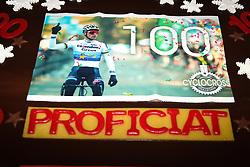 January 5, 2019 - Gullegem, BELGIUM - Illustration picture shows a cake for the 100th victory of Dutch Mathieu Van Der Poel pictured during the men elite race of the Gullegem Cyclocross, Saturday 05 January 2019 in Gullegem, Belgium. BELGA PHOTO DAVID STOCKMAN (Credit Image: © David Stockman/Belga via ZUMA Press)