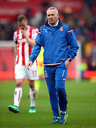Stoke City manager Paul Lambert after the Premier League match at the bet365 Stadium, Stoke.
