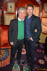 Left to right, JAMES PELTEKIAN and JAMES BLUNT at an intimate performance by Jessie Ware at Annabel's, Berkeley Square, London on 20th April 2016.