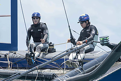 June 21, 2017 - Bermudes, USA - The Great Sound, Bermuda, 20th June 2017, Red Bull Youth America's Cup Finals. Race one. NZL Sailing Team. Wing Trimmer, Stewart Dodson and Helmsman, Logan Dunning Beck. (Credit Image: © Panoramic via ZUMA Press)