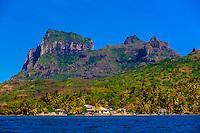 Mt. Otemanu, Bora Bora, Society Islands, French Polynesia.