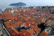 Elevated view of Dubrovnik old town