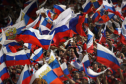 Fans of Russia in Innsbruck during the UEFA EURO 2008 Group D soccer match between Sweden and Russia at Stadion Tivoli NEU, on June 18,2008, in Innsbruck, Austria.  (Photo by Vid Ponikvar / Sportal Images)