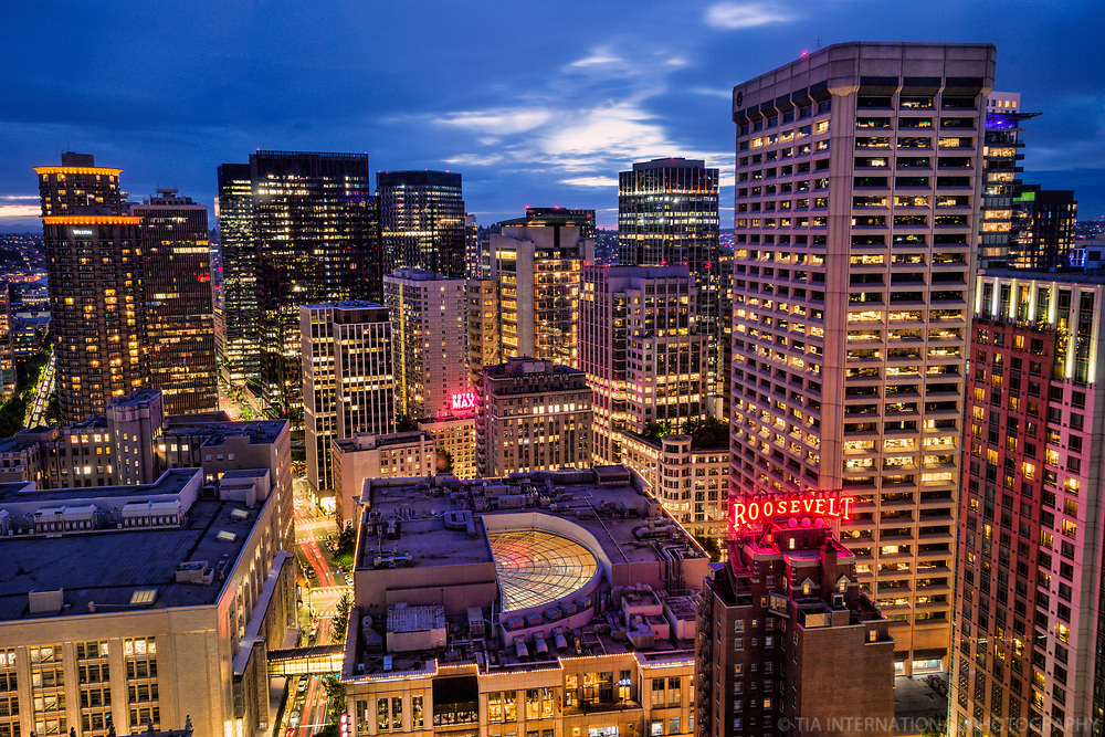 Core of Downtown Seattle, Blue Hour