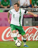 Fotball<br /> EM 2012<br /> 18,06.2012<br /> Italia v Irland<br /> Foto: Witters/Digitalsport<br /> NORWAY ONLY<br /> <br /> Glenn Whelan (Irland)<br /> Fussball EURO 2012, Vorrunde, Gruppe C, Italien - Irland 2:0