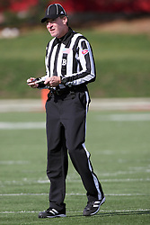 20 October 2012:  Back Judge Kurt Walderbach during an NCAA Missouri Valley Football Conference football game between the Missouri State Bears and the Illinois State Redbirds at Hancock Stadium in Normal IL
