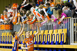 Players of ACH Volley Ljubljana during volleyball match between ACH Volley (SLO) and Vojvodina NS Seme NOVI SAD (SRB) in 5th Leg of Pool F of 2016 CEV DenizBank Volleyball Champions League, on January 21, 2016 in Arena Tivoli, Ljubljana, Slovenia. Photo by Urban Urbanc / Sportida