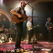 WASHINGTON, DC - January 15, 2020 - Hiss Golden Messenger singer MC Taylor (center) performs at the 9:30 Club in Washington, D.C. with drummer Al Smith, bassist Alex Bingham and guitarist Chris Boerner. (Photo by Kyle Gustafson / For The Washington Post)