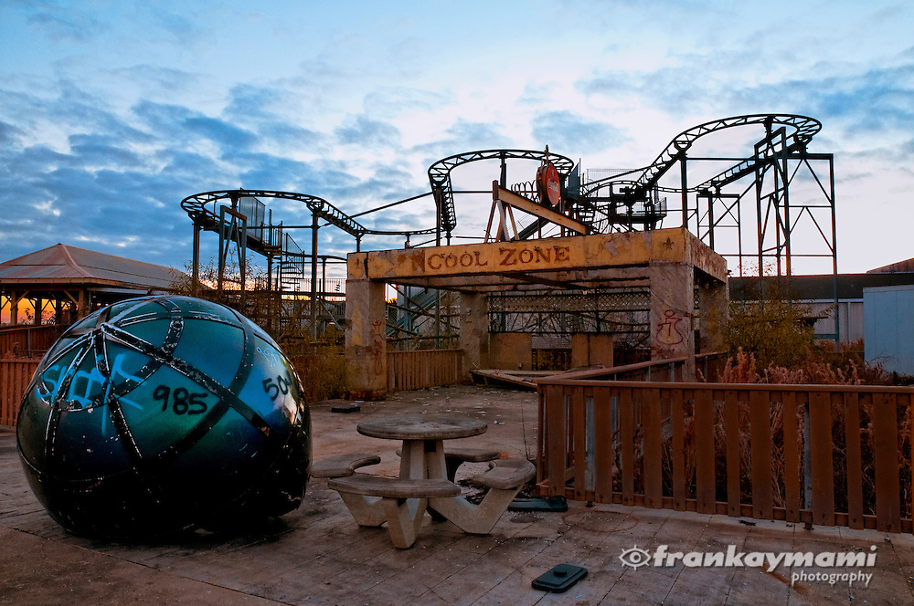 Photo of the Cool Zone at the abandoned Six Flags themepark in New Orleans.