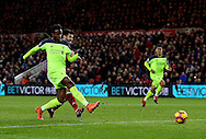 Divock Origi of Liverpool scores the second goal during the English Premier League match at the Riverside Stadium, Middlesbrough. Picture date: December 14th, 2016. Pic Simon Bellis/Sportimage